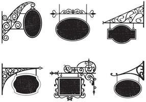 vintage grungy butikstecken vektor pack