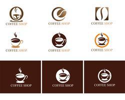 Kaffekopp Logo Mall vektor