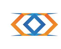 X Buchstabe Logo Template-Vektor-Symbol