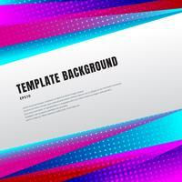 Der abstrakte bunte Schablonentitel und -fußzeilen, das Prisma oder die geometrischen Dreiecke der hellen Steigungsfarbe entwerfen mit Halbton auf weißem Hintergrund- und Kopienraum. Dekoratives Website-Layout oder Poster, Banner, Broschüre, Print, Anzeig