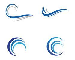 Wasserwelle Symbol Vektor
