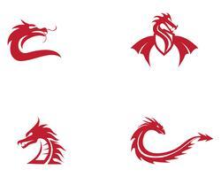 Dragon vektor ikon illustration