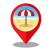 Sommerzeit-Pin-Marke