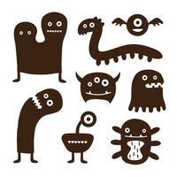 Lustige Monstersammlungen
