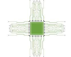 Schaltung Logo Template Vektor