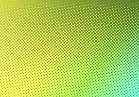 Hellgrün mit gelb gepunkteten Halbton. verblasste gepunktete Steigung. Abstrakte vibrierende Farbbeschaffenheit. Moderne Pop-Art-Design-Vorlage.