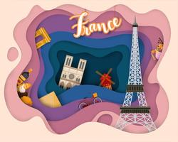 Paper cut design av Tourist Travel France