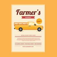 Bauernmarkt Flyer Design vektor