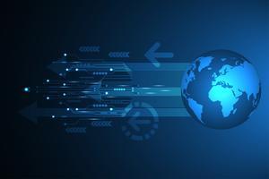 Vektor abstrakt bakgrundsteknologi innovation av den framtida världen.