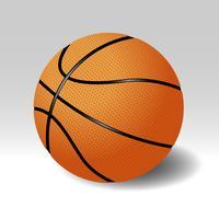 Realistischer Basketball lokalisiert auf Hintergrund-Illustration
