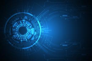 Vector abstrakte Hintergrundtechnologieinnovation der Zukunft.