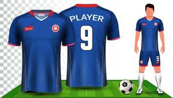 Fußball Jersey und Fußball Kit Präsentation Mockup Vorlage.