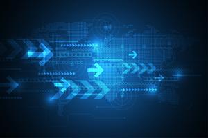 Vektor abstrakt bakgrundsteknologi innovation av framtiden.