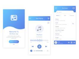 mobil musikappspelare vektor