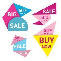 Färgrika Abstrac Origami Försäljning Banderoller vektor