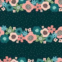 Blommigt sömlöst mönster. Vektor design för papper, omslag, tyg, inredning