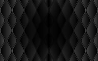 Zusammenfassung. Geometrische Form prägte schwarzen Hintergrund, Licht und Schatten. Vektor.