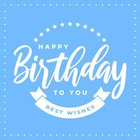 Grattis på födelsedagen hälsningskortsmall