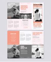 Vektor-Pastellfarben-dreifachgefaltete Broschüren-Schablone