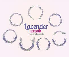 Lavendel-Kranz-Vektor vektor