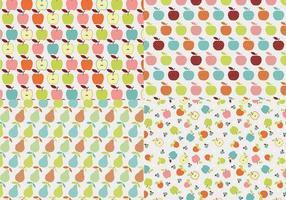 retro äpple vektor mönster pack