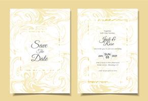 Moderne Hochzeitseinladung Set Liquid Marble Textures Luxusfarben. Trendy Hintergrund-Mehrzweckkarten-Schablone wie Plakat, Abdeckung, Buch, etc.