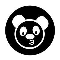 Niedliche Panda-Ikone