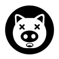 Gullig gris Ikon