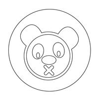 Gullig panda ikon
