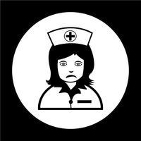 Sjuksköterskans ikon vektor
