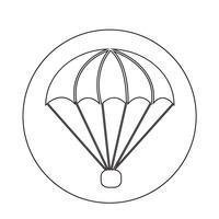 Fallschirm-Symbol vektor