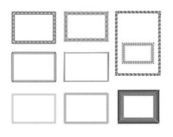 Zertifikat-Vektorrahmenpaket vektor