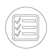 Checklisten-Symbol vektor