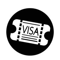 Entré Visa-ikon vektor