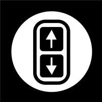 Pil upp och ner ikon vektor