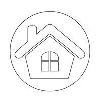 Immobilien Haussymbol