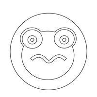 Frosch-Symbol vektor