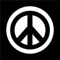 Hippie-Friedenssymbol-Symbol vektor