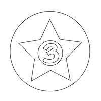 3-Sterne-Hotel-Symbol vektor