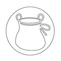 Chalk Bag Aufstiegssymbol vektor