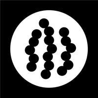 Virus Bakterien-Symbol vektor