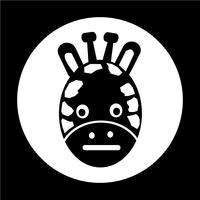 Giraffe-Symbol vektor