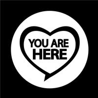 Du är här ikonen