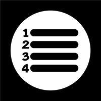 Listensymbol Zeichen