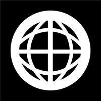 Globe jordikonen vektor
