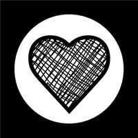 Hjärtaikon vektor