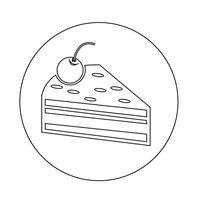 Kuchen Stück Symbol