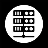 Computerserver-Symbol vektor