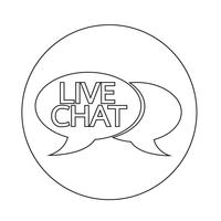 Live chat talbubbla ikon vektor