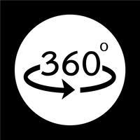 Vinkel 360 graders ikon